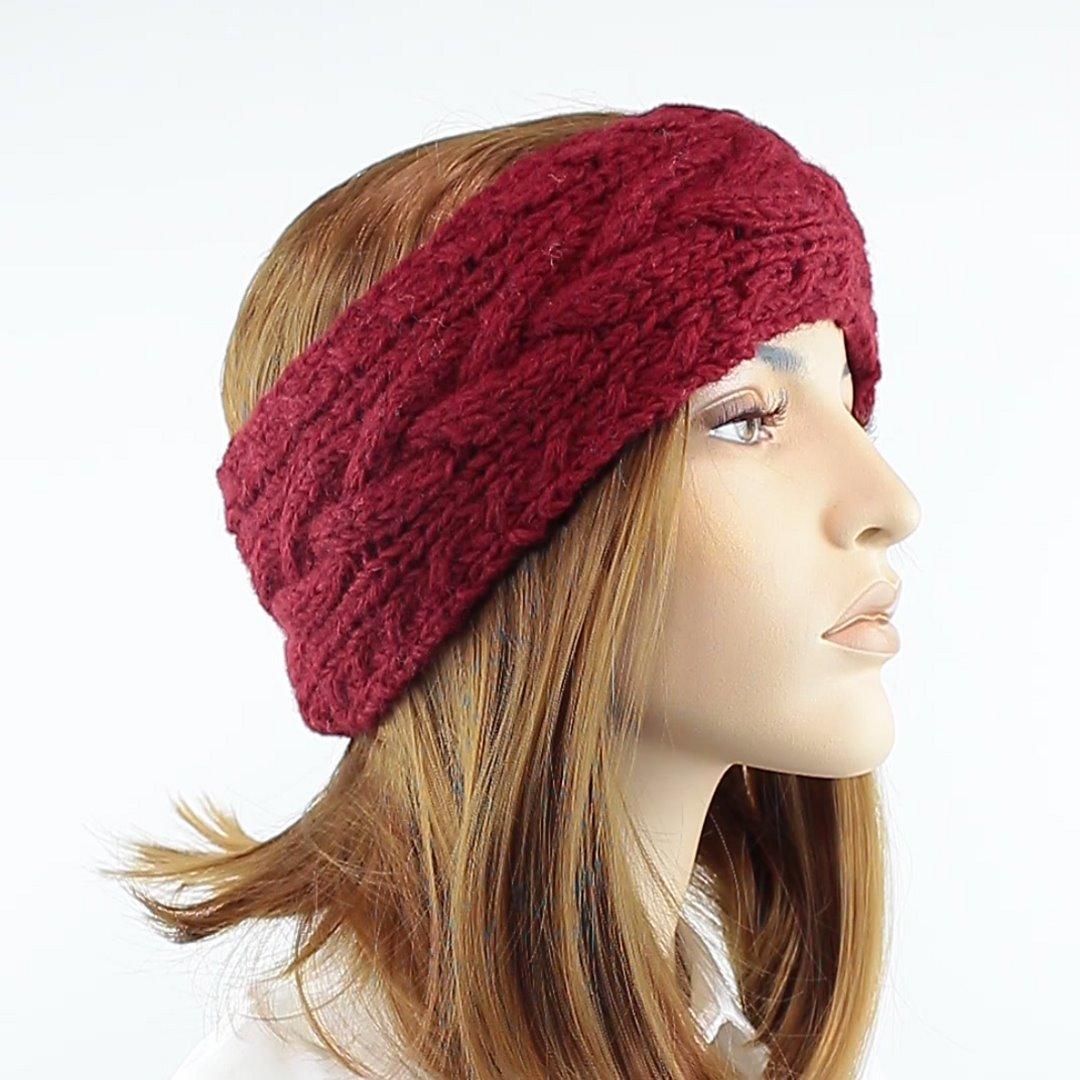 Foto 2: Stirnband in der Farbe Maroon