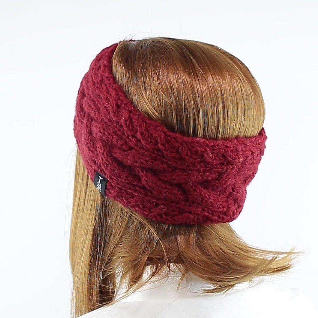Foto 4: Stirnband in der Farbe Maroon