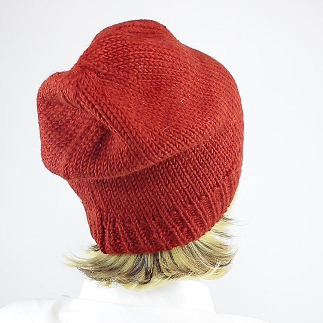 Foto 3: Beanie-Wollmütze in der Farbe Rot/Orange