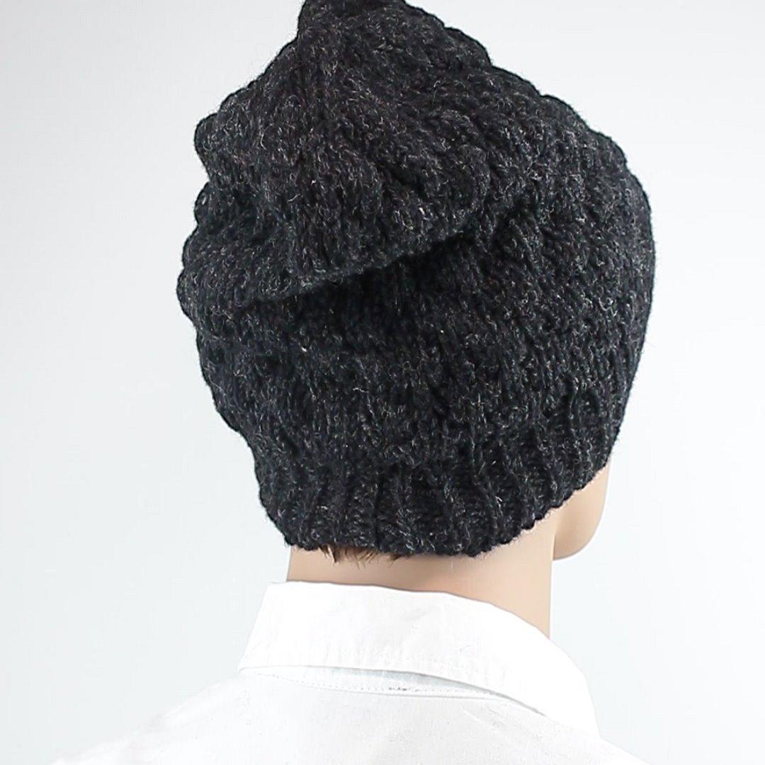 Foto 3: Wintermütze: Leicht melierte Dunkelgraue Mütze