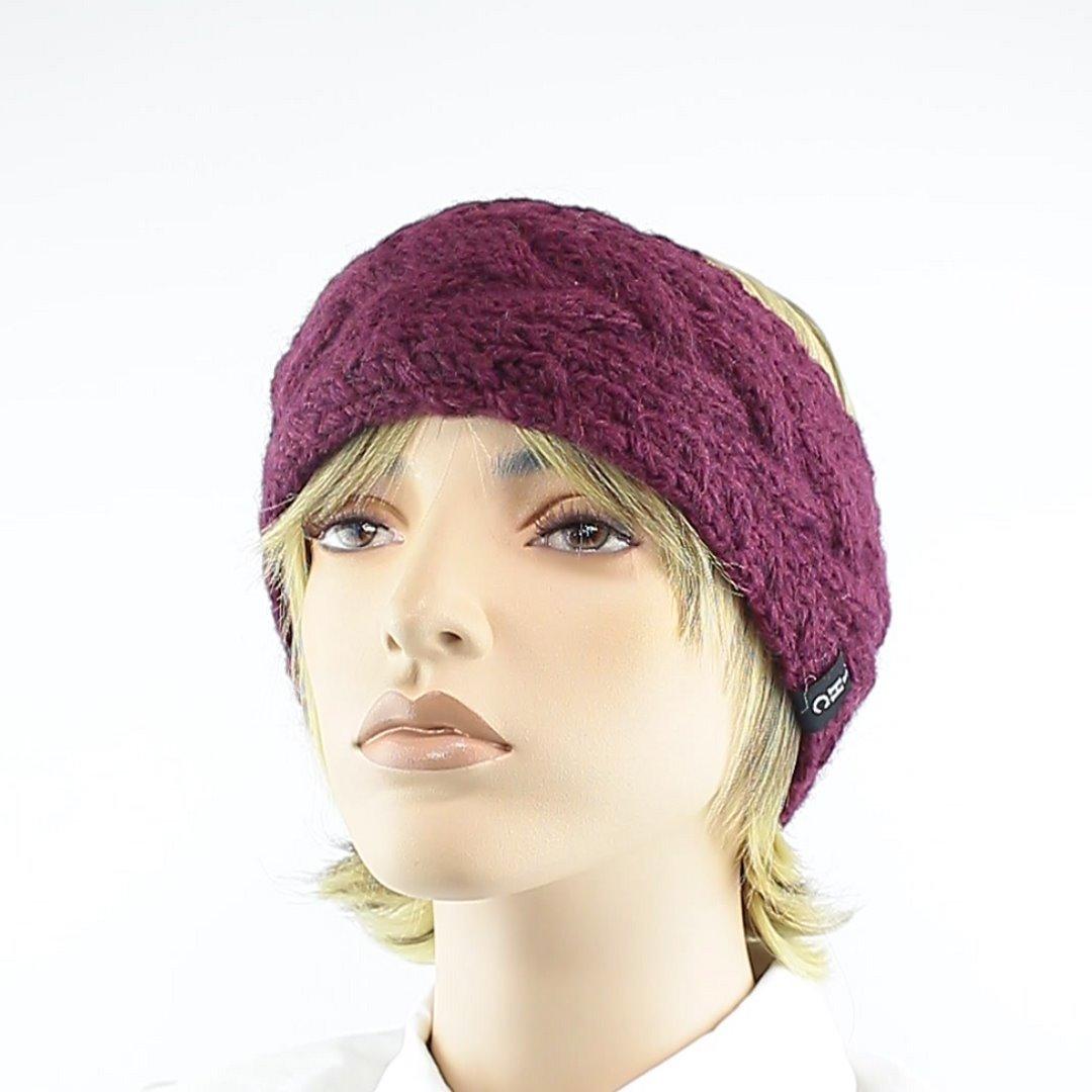 Foto 1: Stirnband in der Farbe Aubergine