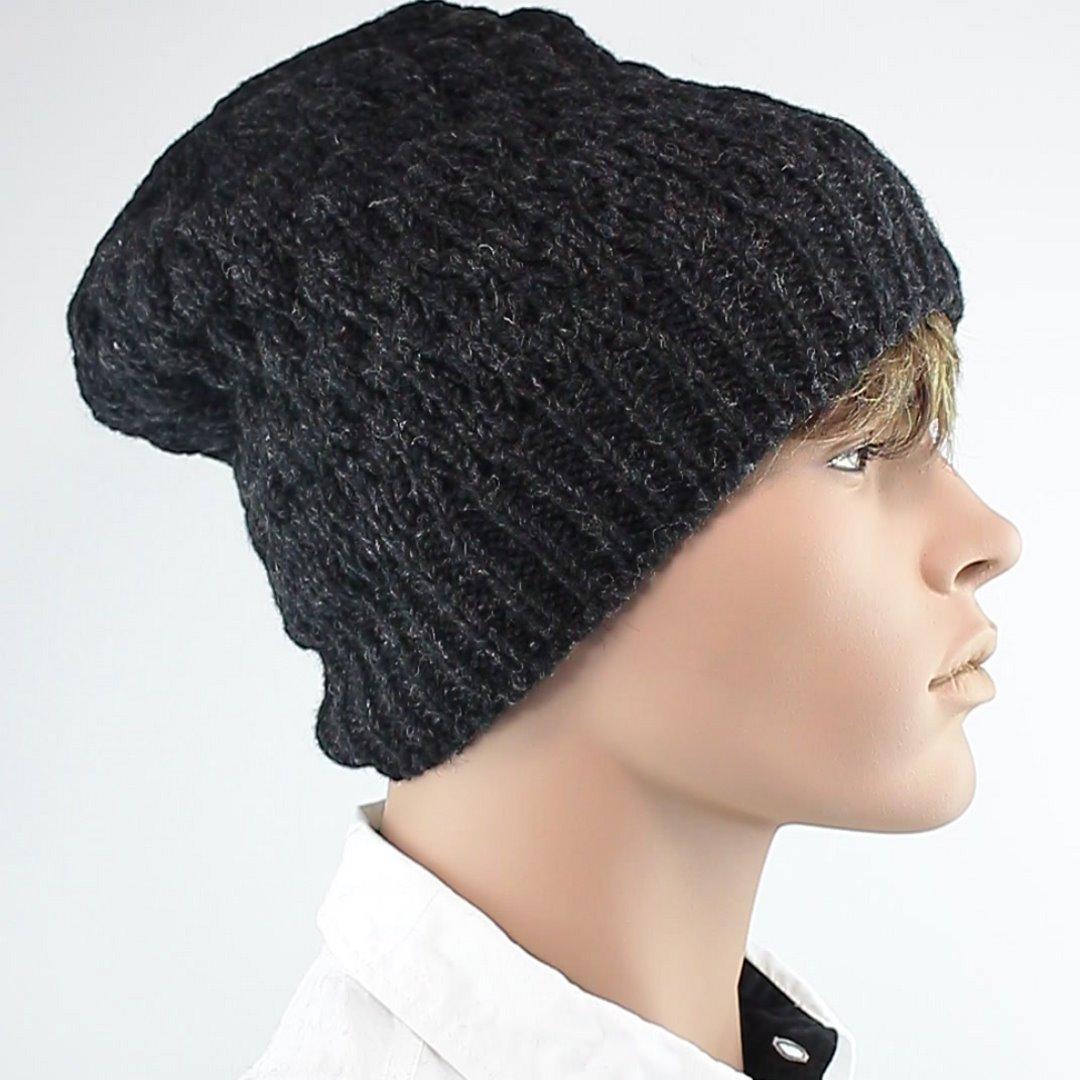 Foto 2: Wintermütze: Leicht melierte Dunkelgraue Mütze