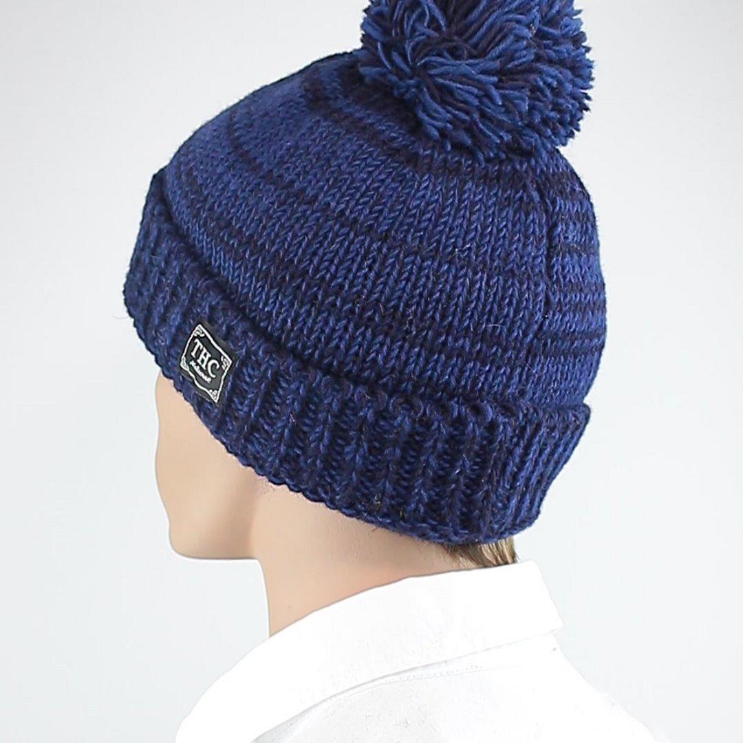 Foto 4: Mütze aus Wolle in klassischem Pudelmützenblau