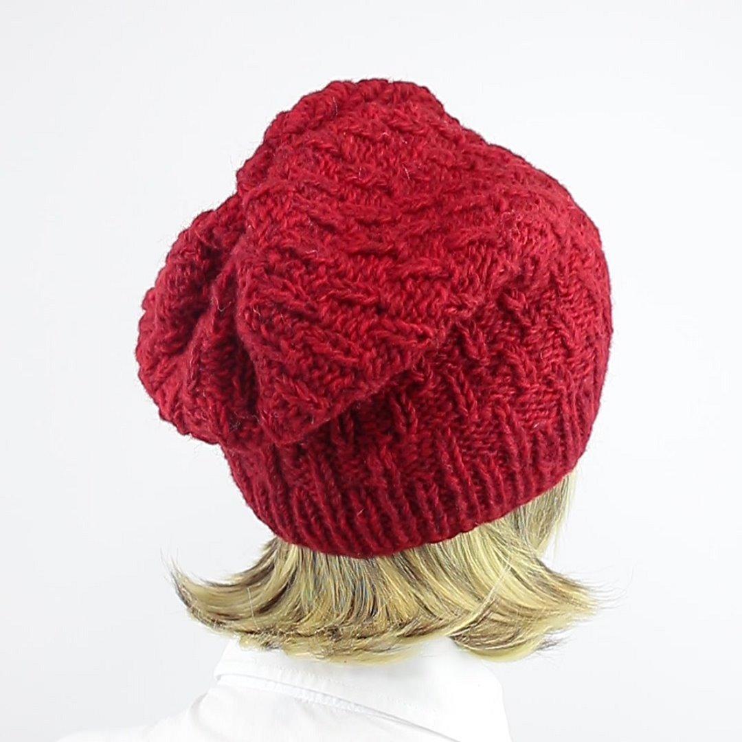 Foto 3: Wollmütze in wunderschönem Rot