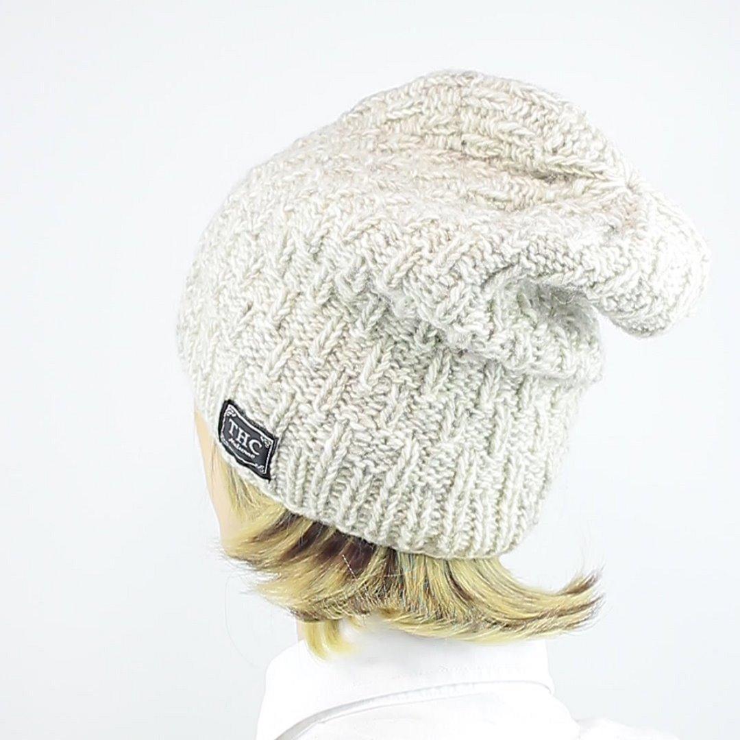 Foto 4: Wollmütze in Beige/Weiß