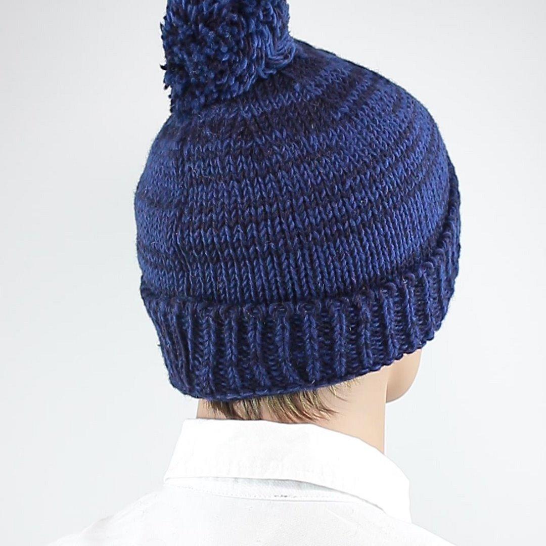 Foto 3: Mütze aus Wolle in klassischem Pudelmützenblau