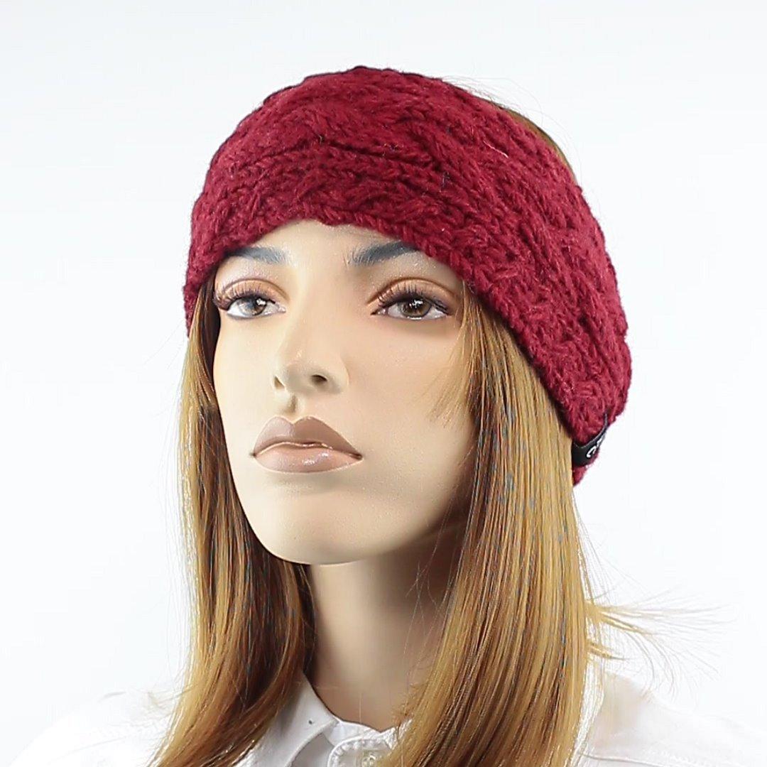 Foto 1: Stirnband in der Farbe Maroon