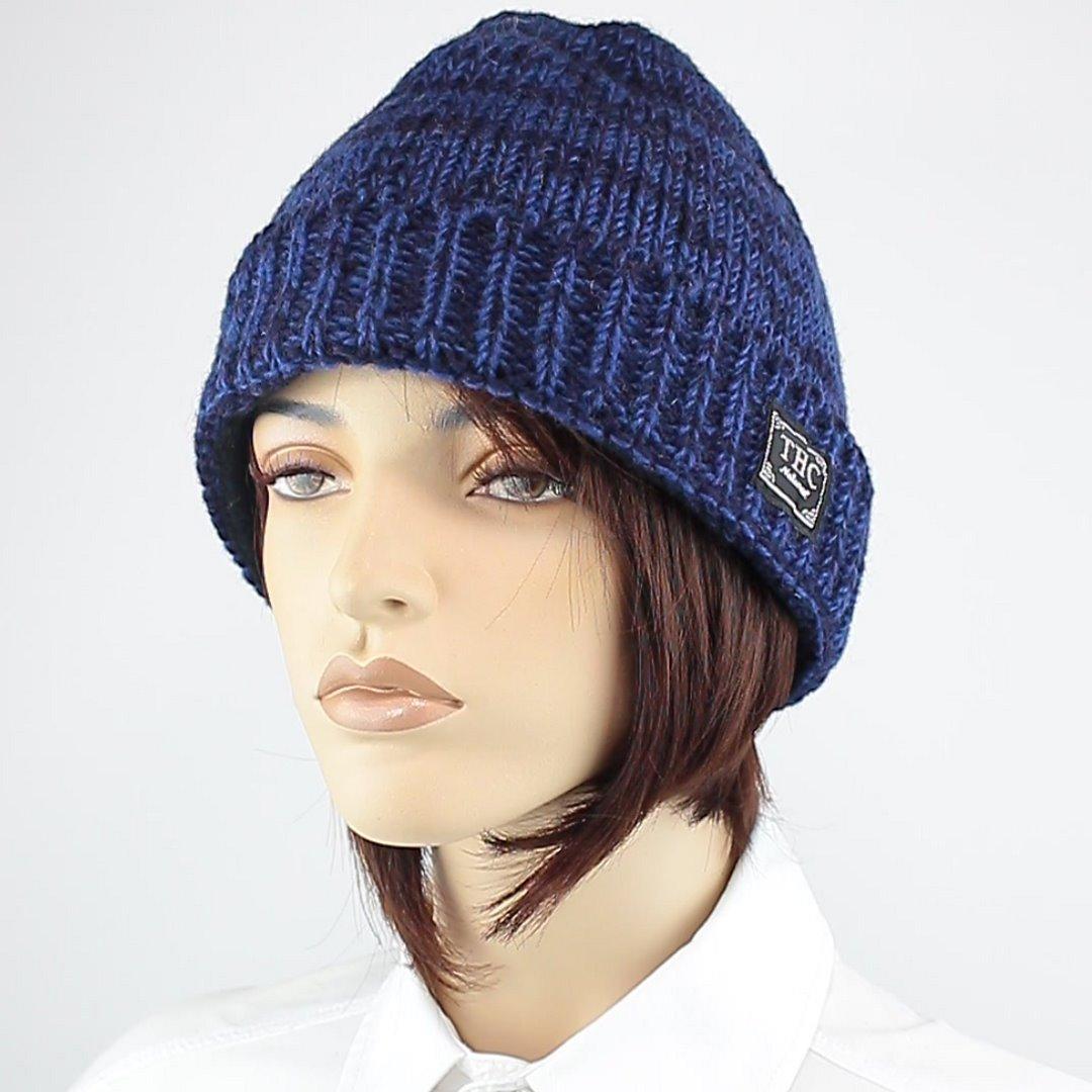 Foto 1: Round Cap-Mütze mit dunklen Blautönen