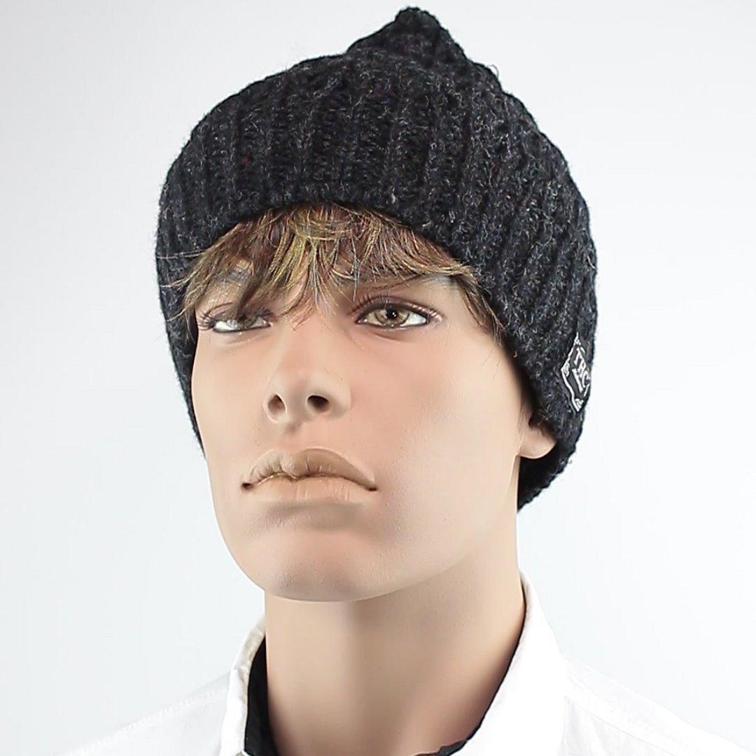 Foto 1: Wintermütze: Leicht melierte Dunkelgraue Mütze