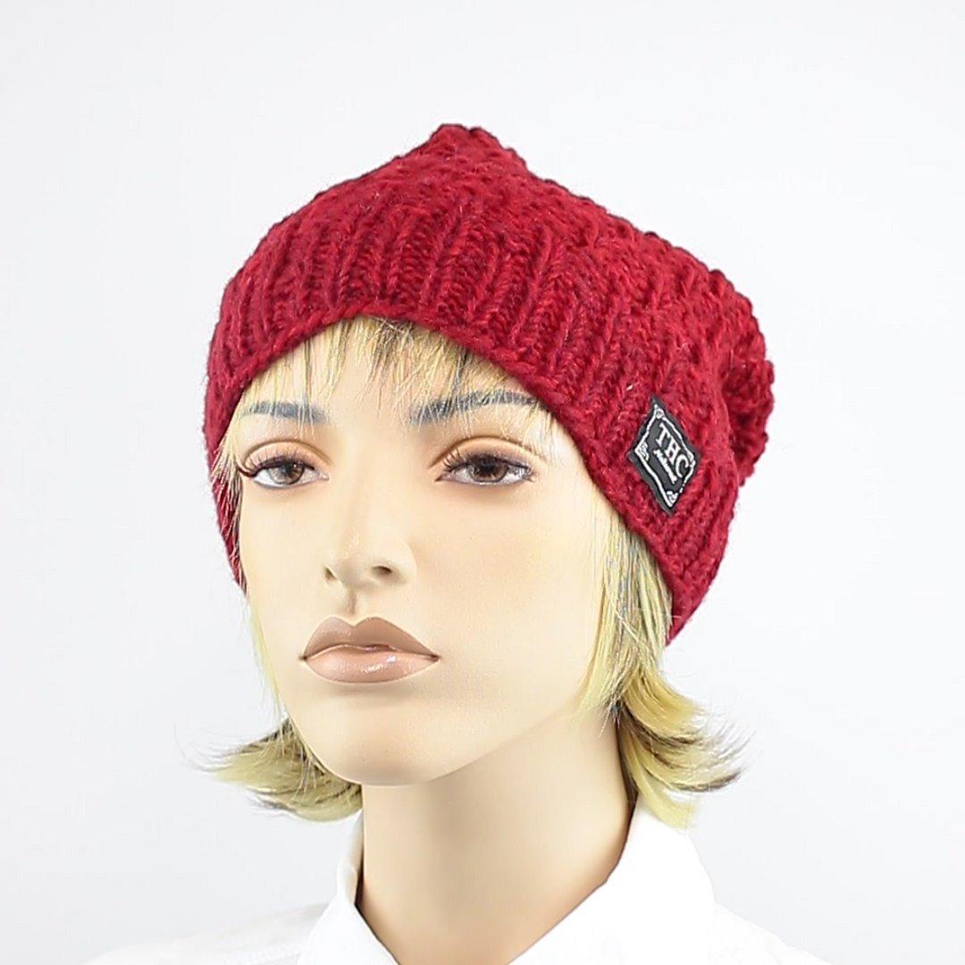 Foto 1: Wollmütze in wunderschönem Rot