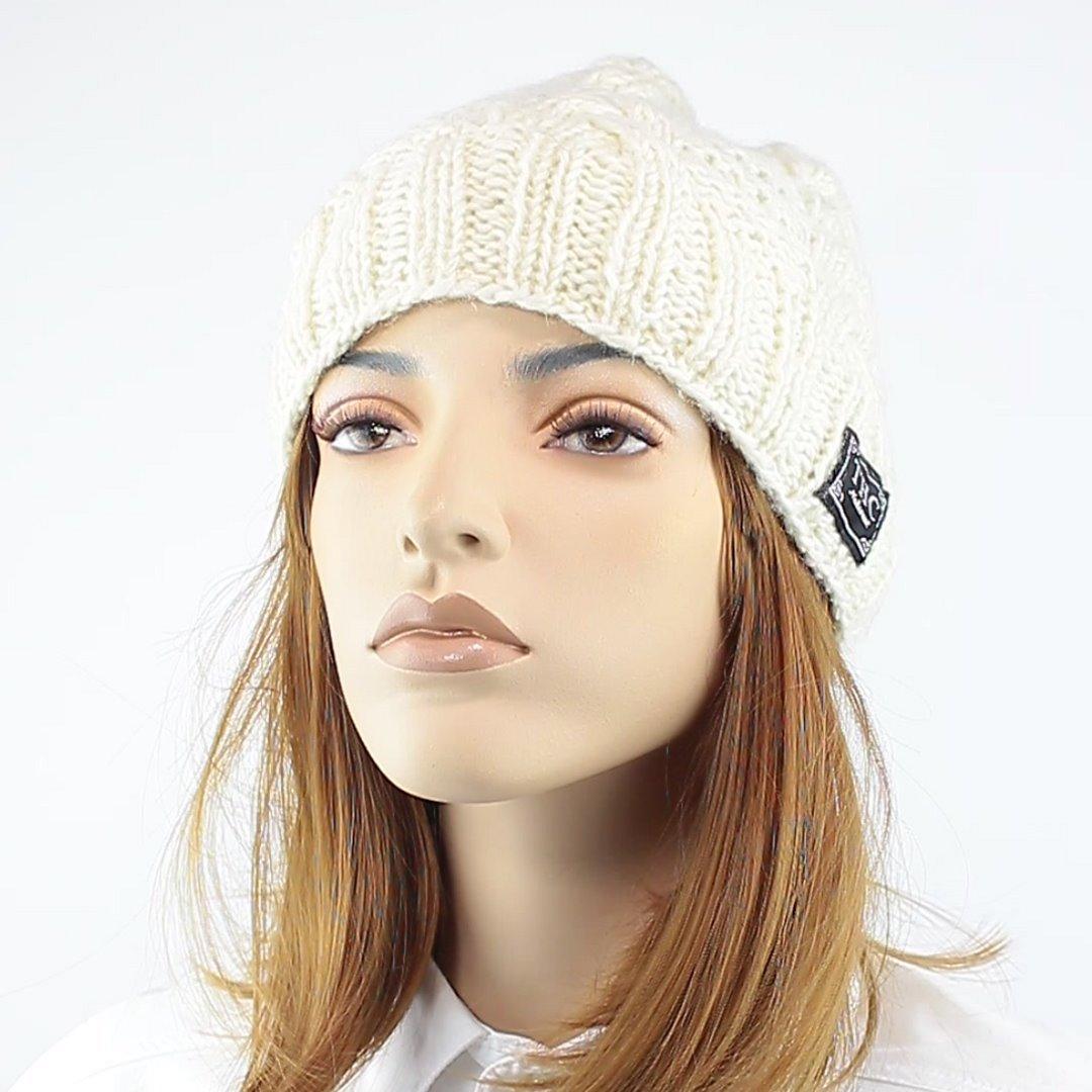 Foto 1: Warme Mütze in weiß