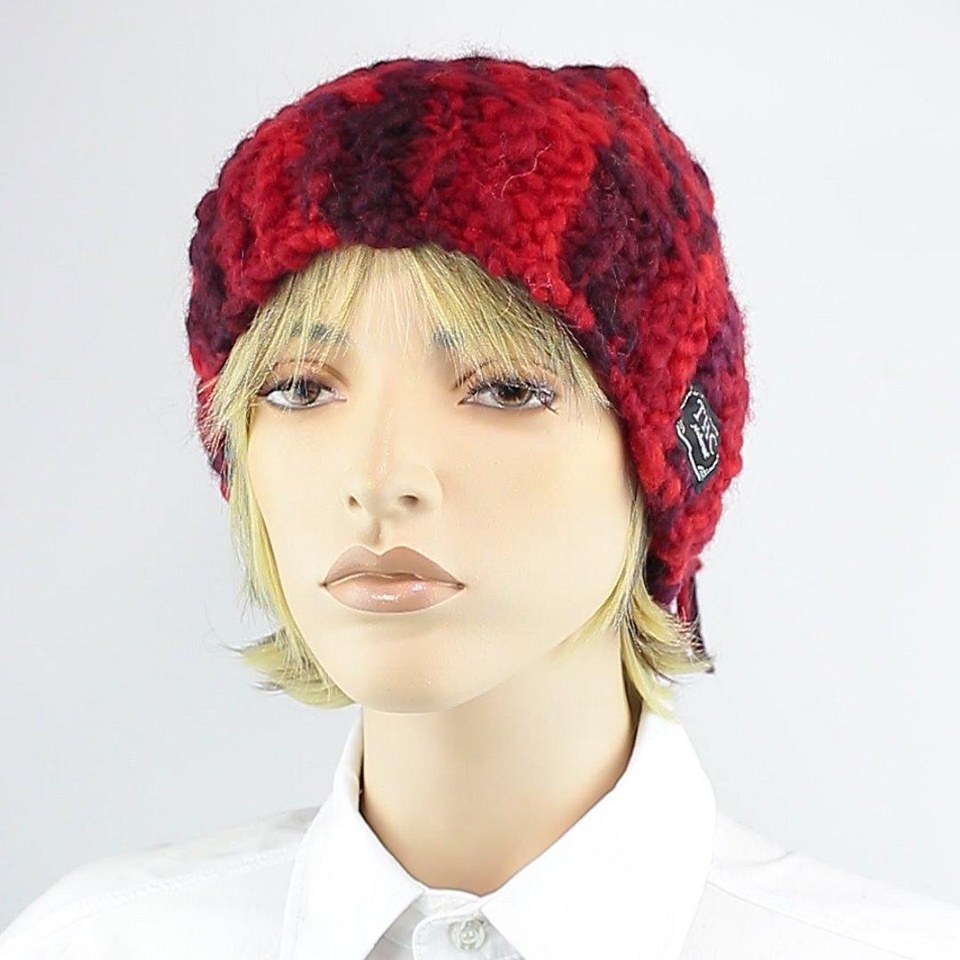 Foto 1: Rote Beanie-Wollmütze