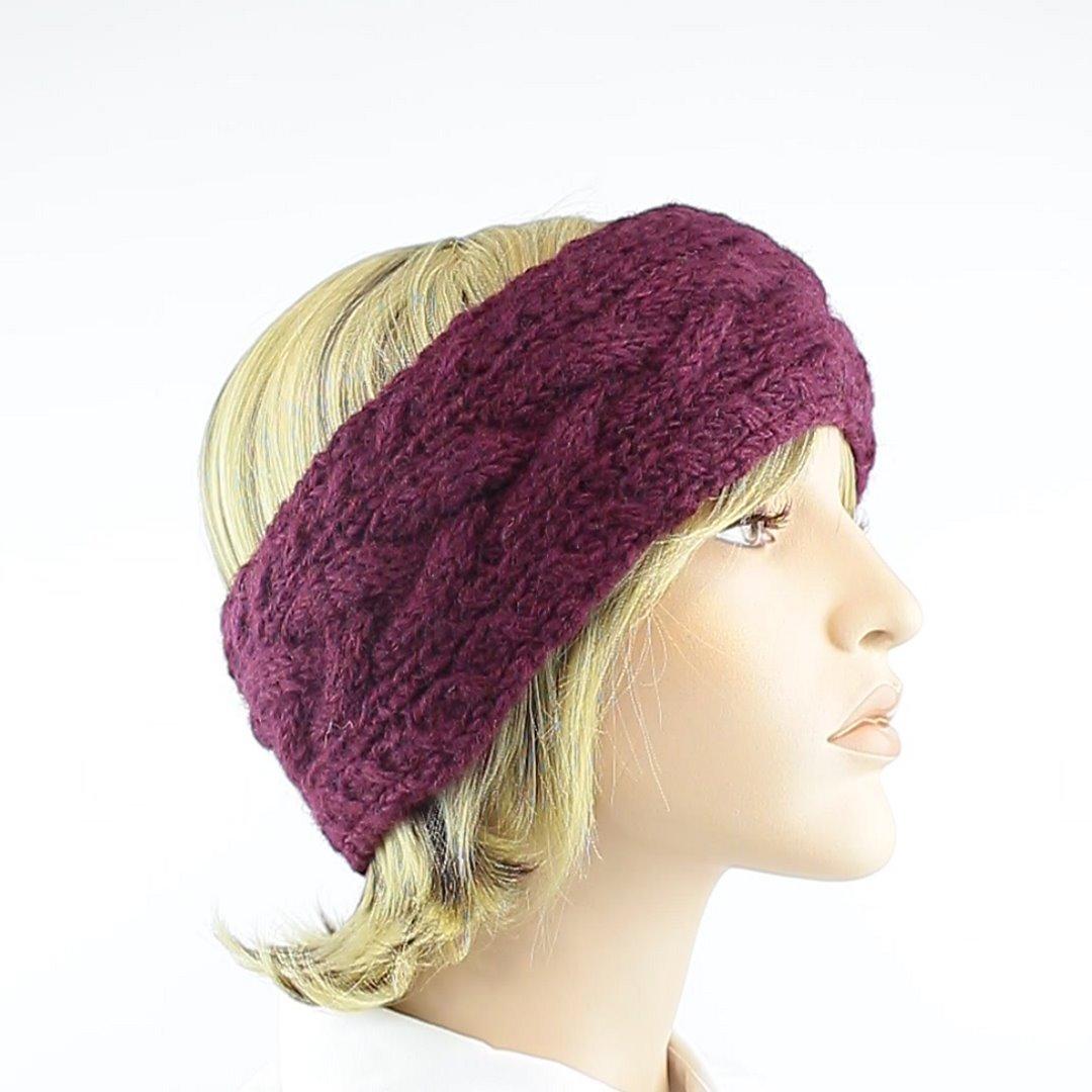 Foto 2: Stirnband in der Farbe Aubergine