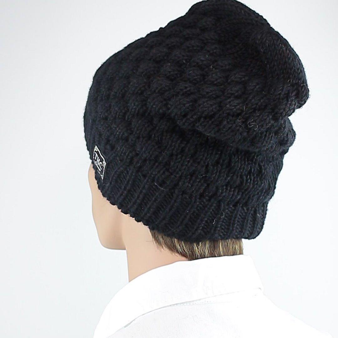 Foto 4: Schwarze Beanie-Wintermütze aus Wolle
