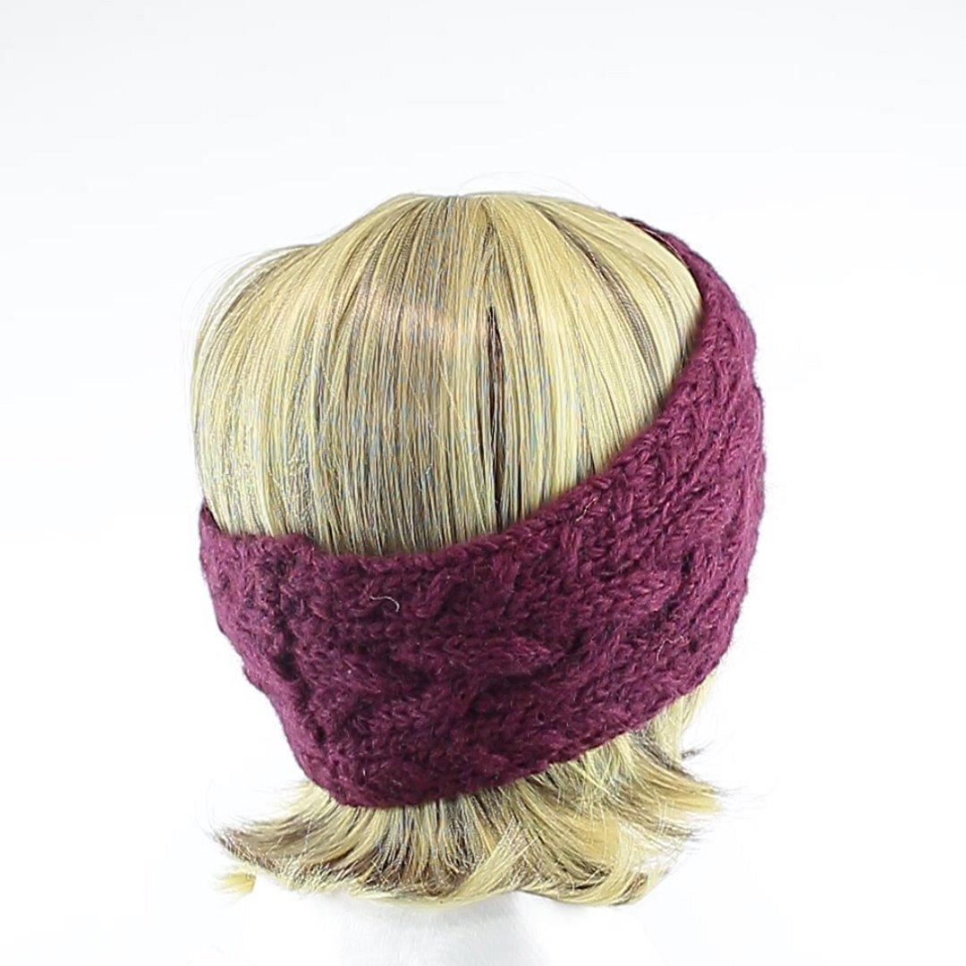 Foto 3: Stirnband in der Farbe Aubergine