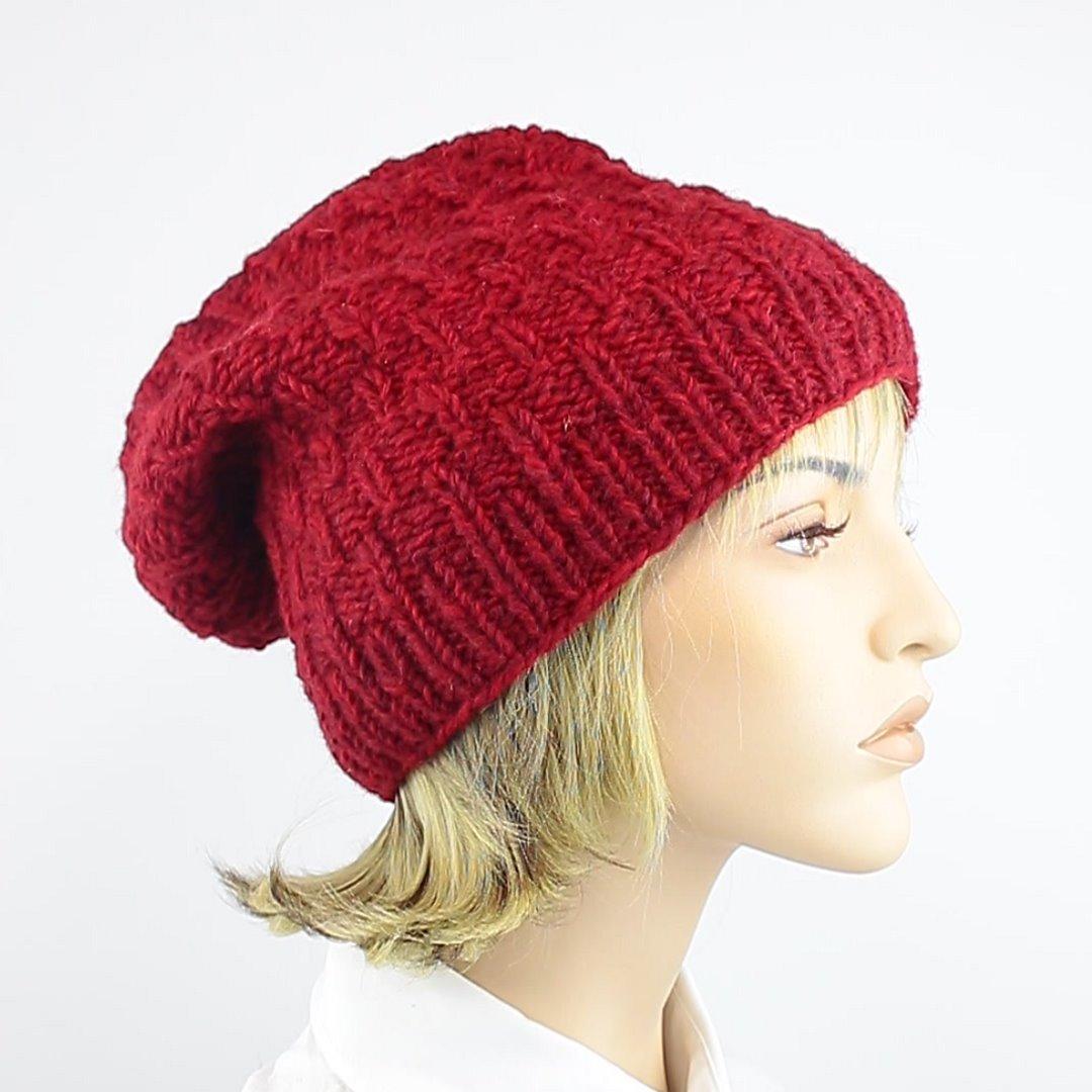 Foto 2: Wollmütze in wunderschönem Rot
