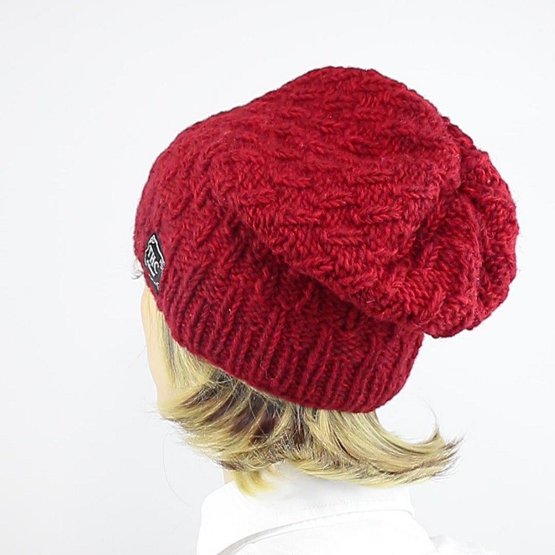 Foto 4: Wollmütze in wunderschönem Rot