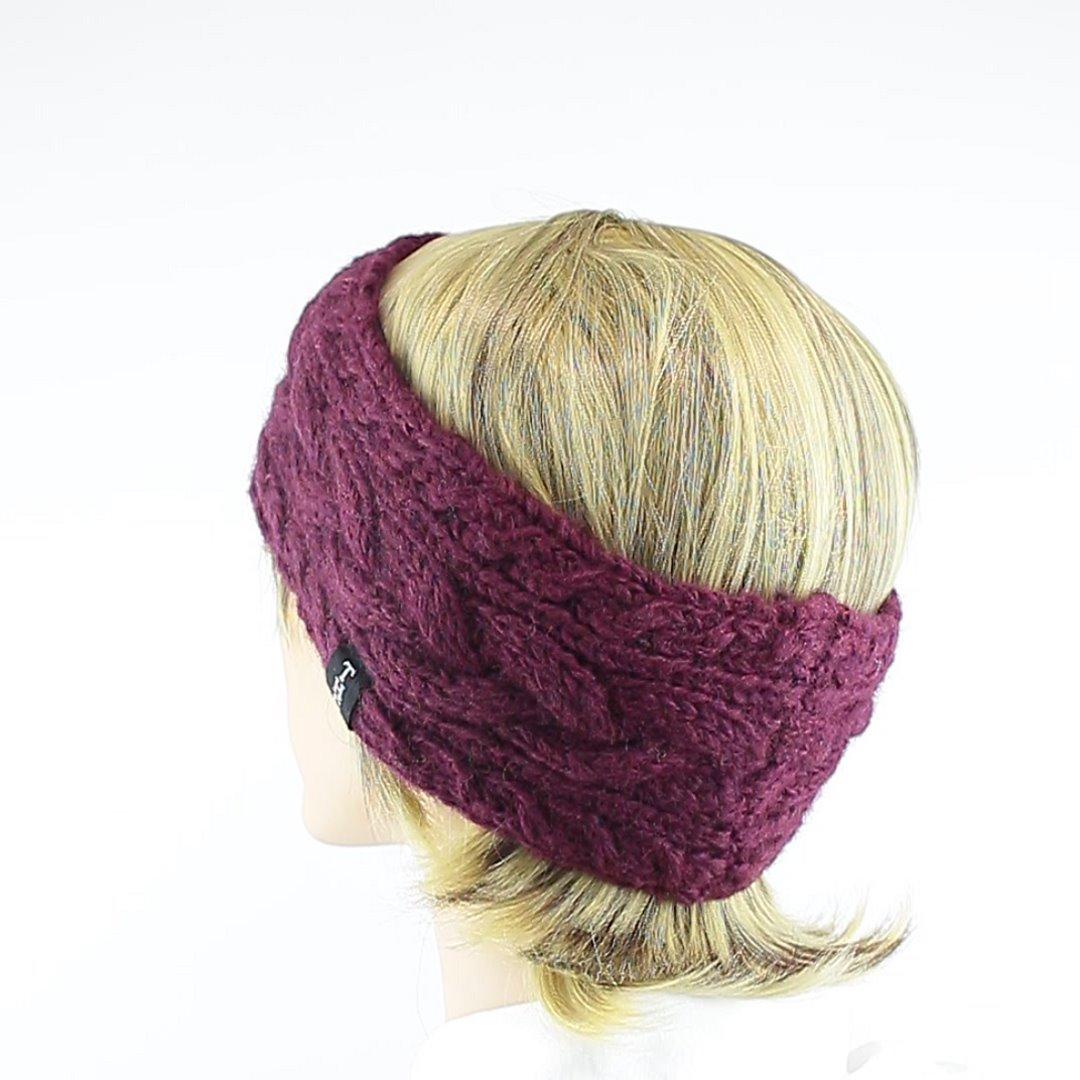 Foto 4: Stirnband in der Farbe Aubergine