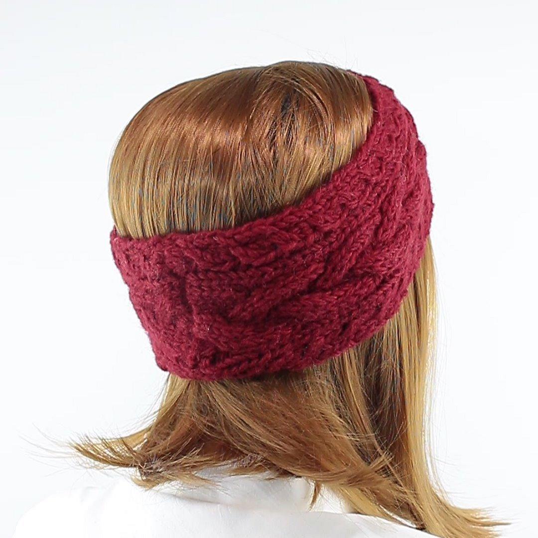 Foto 3: Stirnband in der Farbe Maroon